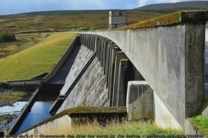 Glascarnoch Dam. Image by Jim Barton.