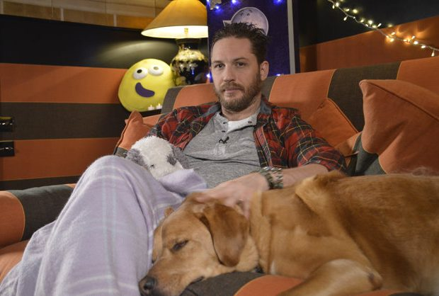 Tom Hardy and Woody on CBeebies 'Bedtime Story'
