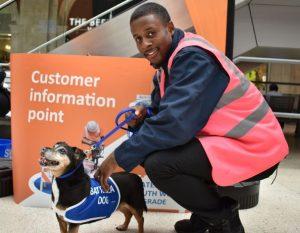 Millie at Waterloo Station