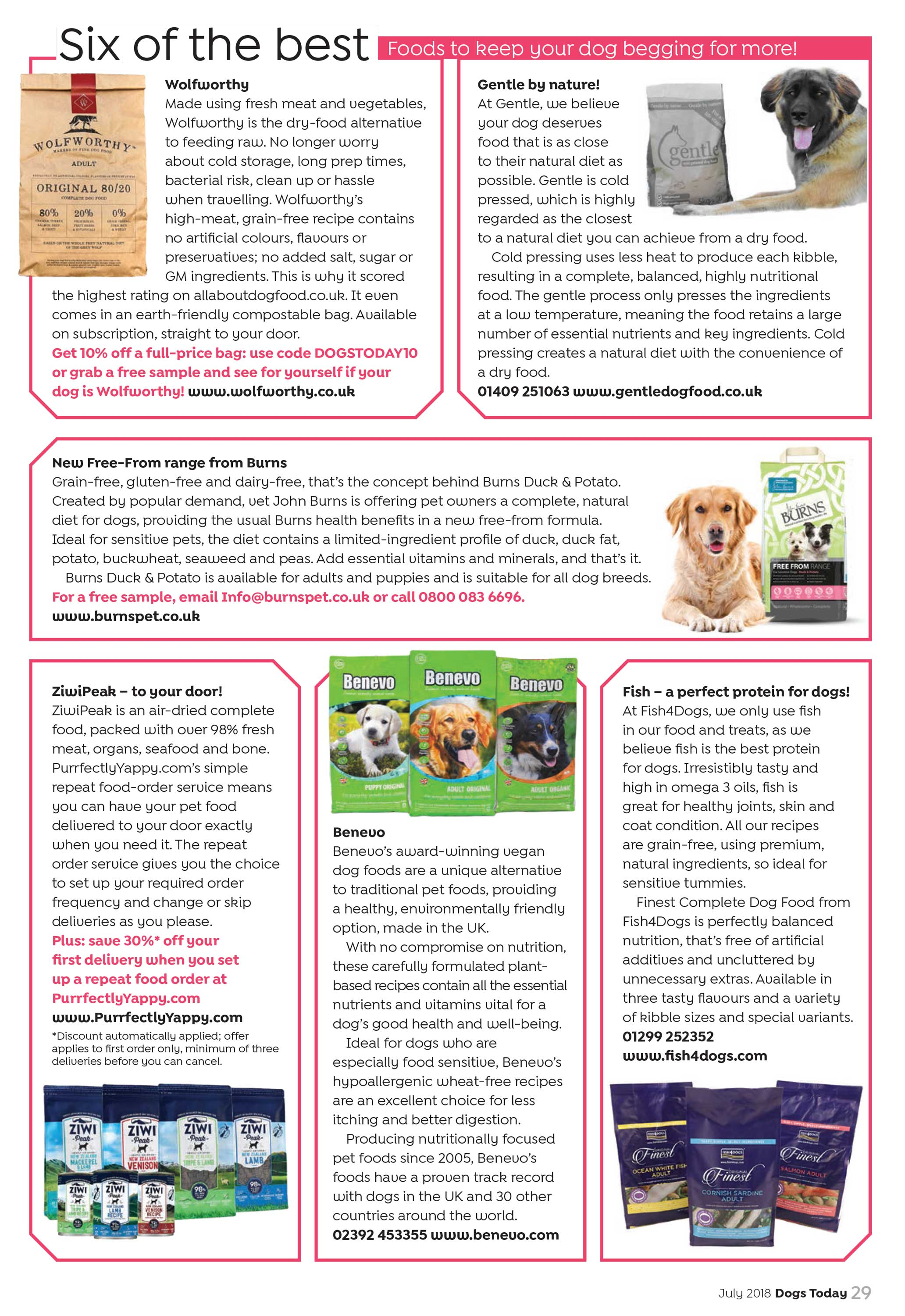The Best Dog Food >> Six Of The Best Dog Foods Dogs Today Magazine