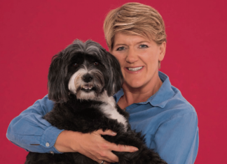 Clare Balding and Archie