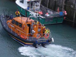 RNLI lifeboat returning