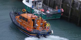 RNLI lifeboat returning