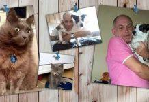 John Chadwick with his pets